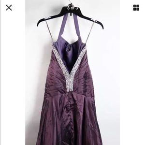 NEW Night Moves Aubergine Bead Embellished Gown 10